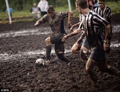 Finland Swamp Soccer! I want to play