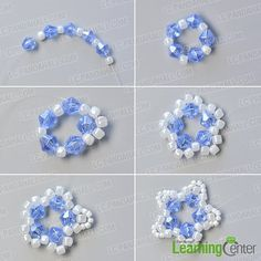 Make the first part of the star seed beaded bracelet