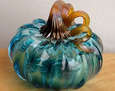 Glass Blown Pumpkins by BarcaC on Etsy