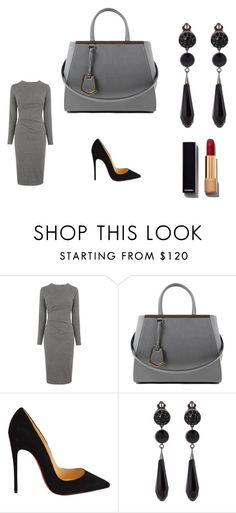 """daily variation"" by nudzi-ded ❤ liked on Polyvore featuring Whistles, Fendi, Christian Louboutin, Givenchy and Chanel"