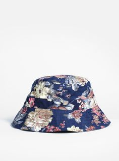 c0d58c89ba7a3 Navy Paradise Floral Bucket Hat Floral Bucket Hat
