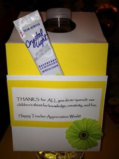Refreshing Water Bottle for Teacher Appreciation, Bridal Shower, Ladies Luncheon, etc. (favor, door prize/gift, hostess gift)