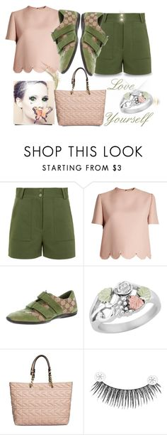 """""""Love Yourself"""" by runners ❤ liked on Polyvore featuring TIBI, Valentino, Gucci, Grace, Karl Lagerfeld and eylure"""