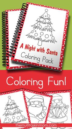 FREE!!! A night with Santa Coloring Fun Pack