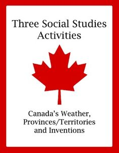 A fun and informative set of three social studies activities for students studying Canada's geography and people; the activities are challenging en. Social Studies Classroom, Social Studies Activities, Teaching Social Studies, Enrichment Activities, Canadian Social Studies, Teacher Resources, Teaching Ideas, Levels Of Understanding, How To Get Followers
