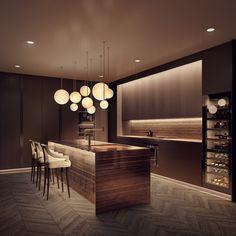 6 John Street on Behance Luxury Kitchen Design, Kitchen Room Design, Contemporary Kitchen Design, Kitchen Cabinet Design, Luxury Kitchens, Home Decor Kitchen, Interior Design Kitchen, Home Kitchens, Interior Decorating