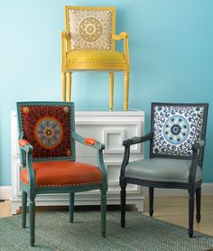 Colorful Suzani chairs from Shades of Light