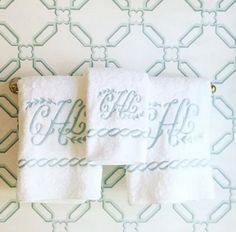 matouk classic chain monogrammed towels and bath sets these are made in the usa of cairo - Matouk Towels