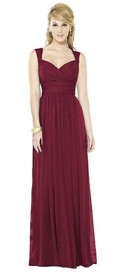 Full Length After Six Bridesmaid Dresses In Reds   The Dessy Group Burgundy  Bridesmaid Dresses 404603abfdcf