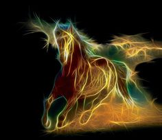 Horse Fractal by Terrazzo on deviantART