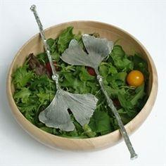 Ginkgo salad servers     le posate per l'insalata mi piacciono molto