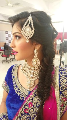 "Pratibha Nalla Studio ""Hair"" album - Bridal Hairstyle for Long Hair Bridal Wedding Hairstyle, Mehendi Hairstyle. Hairstyle Wedding, Mehendi, Bun Hairstyles, Album, Jewellery, Long Hair Styles, Studio, Fashion, Moda"