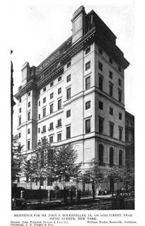 John D. Rockefeller, Jr. mansion, 10 West 54th Street, 1913. It is now the site of the Museum of Modern Art, founded by Mrs. Abby Rockefeller.