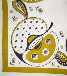 Startex Apple Vintage 60's Tea Towel