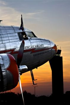 Photograph by Mat Nelson American Airlines oldest running DC-3 Flagship Detroit (Fort Worth, TX)