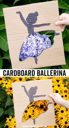 Cardboard Ballerina Craft - such a fun recycled craft for kids! Recycled Crafts Kids, Fun Crafts For Kids, Crafts To Do, Preschool Crafts, Kid Crafts, Creative Activities, Creative Crafts, Activities For Kids, Activity Ideas