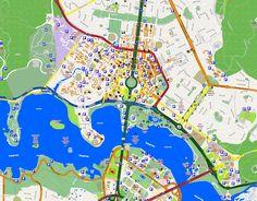 MapasBlog: Mapas de Camberra - Austrália