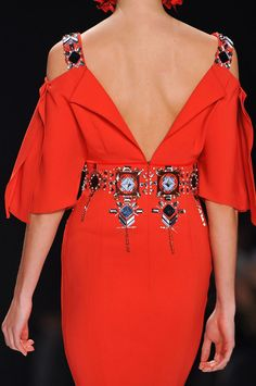 Carolina Herrera Fall 2014- Runway Details at #NYFW
