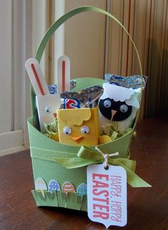Laura's Works of Heart: FRY BOX EASTER BASKET: