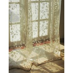 A Pair Of White Sheer Curtains Made To Order Upto 104 Quot L