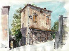 Castelfranc, maison de marinier by Cat Gout, via Flickr