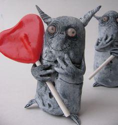 infestation  monster ooak art doll sculpture for by mealymonster