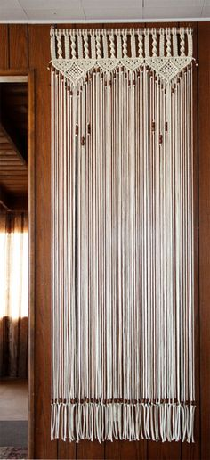 Makrome Boncuklu Mutfa Kapı Perde Beaded Door Curtains, Bead Curtain Doorway, Macrame Curtain, Hanging Door Beads, Inside Doors, Overhand Knot, Macrame Plant, Curtain Sizes, Decorative Curtain Rods