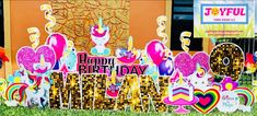 Happy Birthday Yard Signs, Joyful, Cards, Ideas, Maps, Thoughts, Playing Cards