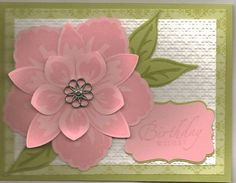 Build a Blossom card ~ I love the flower and the colors. But can make that flower?