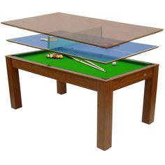 Gamesson Bordspill Combo 3i1 Mars Biljard & Bordtennis bord