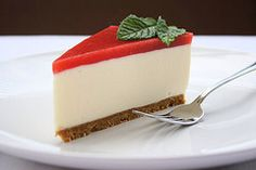 Think it's a strawberry cheesecake