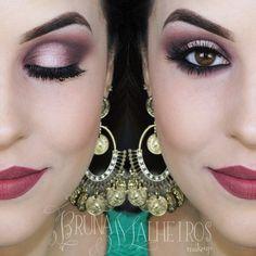 Maquiagem Marsala por Bruna Malheiros