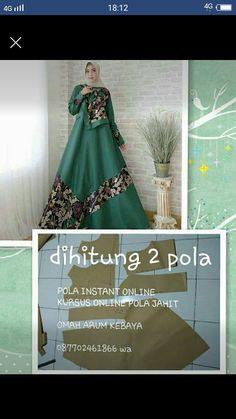Batik Fashion, Abaya Fashion, Muslim Fashion, Women's Fashion, Formal Dress Patterns, Dress Sewing Patterns, Batik Muslim, Muslim Gown, Hijab Dress Party