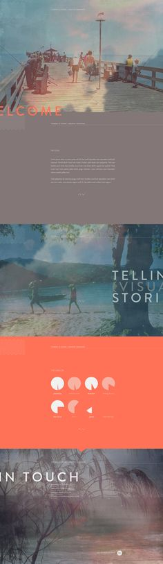 Web | Personal Page by Thomas Le Corre, via Behance
