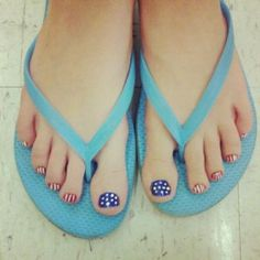 patriotic pedicure - Doing this for the 4th of July