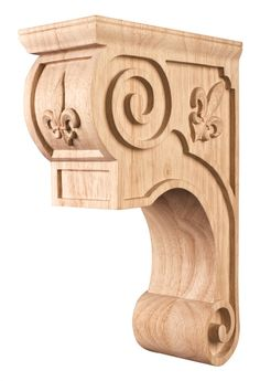 Hand Carved Wood Corbel