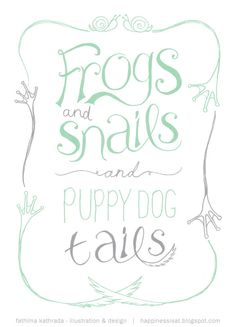 little boys are made of :: frogs, snalils and puppy dog tails