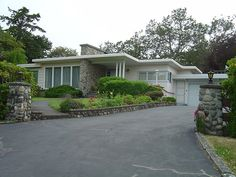 Curb Appeal for a mid-century modern house, via Flickr.