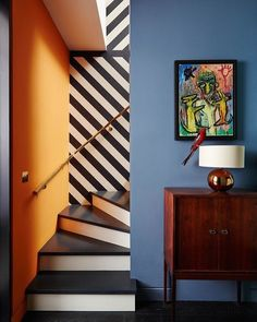Colour pattern and boatloads of style. Love this space.