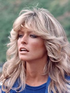 What a hair icon, this style was so popular in the late 1970s