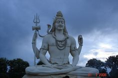 The Shiva Statue of Kachnar City near Jabalpur, Madhya Pradesh, India