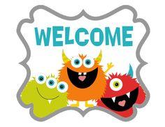 Monster Party Signs DIY printables by shelleyspaperstudio on Etsy Monster Room, Monster Book Of Monsters, Cute Monsters, Little Monsters, Monster 1st Birthdays, Monster Birthday Parties, Monster Theme Classroom, Classroom Themes, Monster Shapes