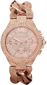 Michael Kors MK3196 Rose Gold Camille Bracelet Watch Chronograph Crystals Glitz | eBay