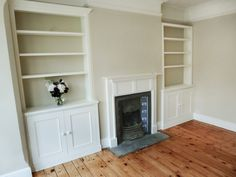 Alcove Ideas Living Room, Living Room Shelves, New Living Room, Living Room Designs, Room Ideas, Alcove Storage, Alcove Shelving, Alcove Cupboards, Built In Cupboards