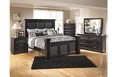 "The Cavallino Mansion Bedroom Set from Ashley Furniture HomeStore (AFHS.com). The dark finish and classic design of the ""Cavallino"" bedroom collection creates a traditional styled collection that is sure to enhance the beauty and atmosphere of any bedroom decor."