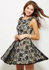 Bow Shoulder Lace Dress