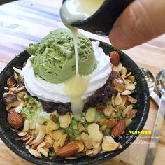 [Korean Dessert Cafe] Nunsaram - Green Tea Bingsu