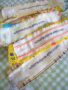 DIY labels using transfer paper