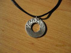 """Silberanhänger - Silber-Amulett """"Live Life"""" am Lederband 999 Silber - ein Designerstück von Ringfreak bei DaWanda"""