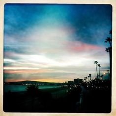 Sunset in Long Beach, CA.